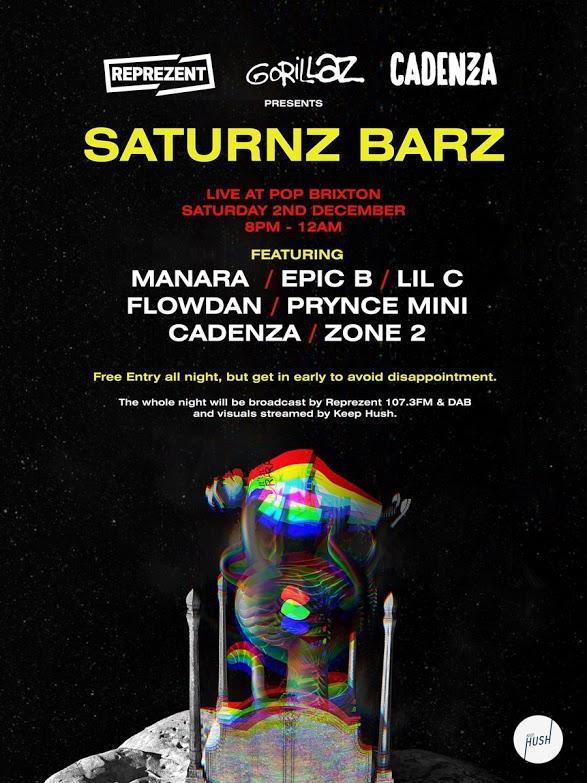 Cadenza, Gorillaz & Reprezent Presents: Saturnz Barz