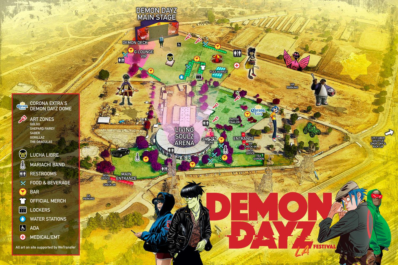 Demon Dayz 2018 Map